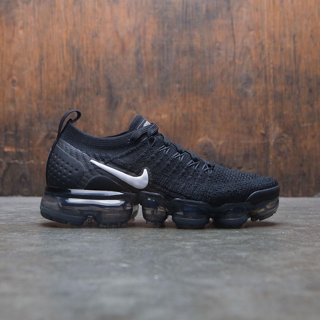 brand new f01c0 41a82 nike women air vapormax flyknit 2 black white dark grey metallic silver