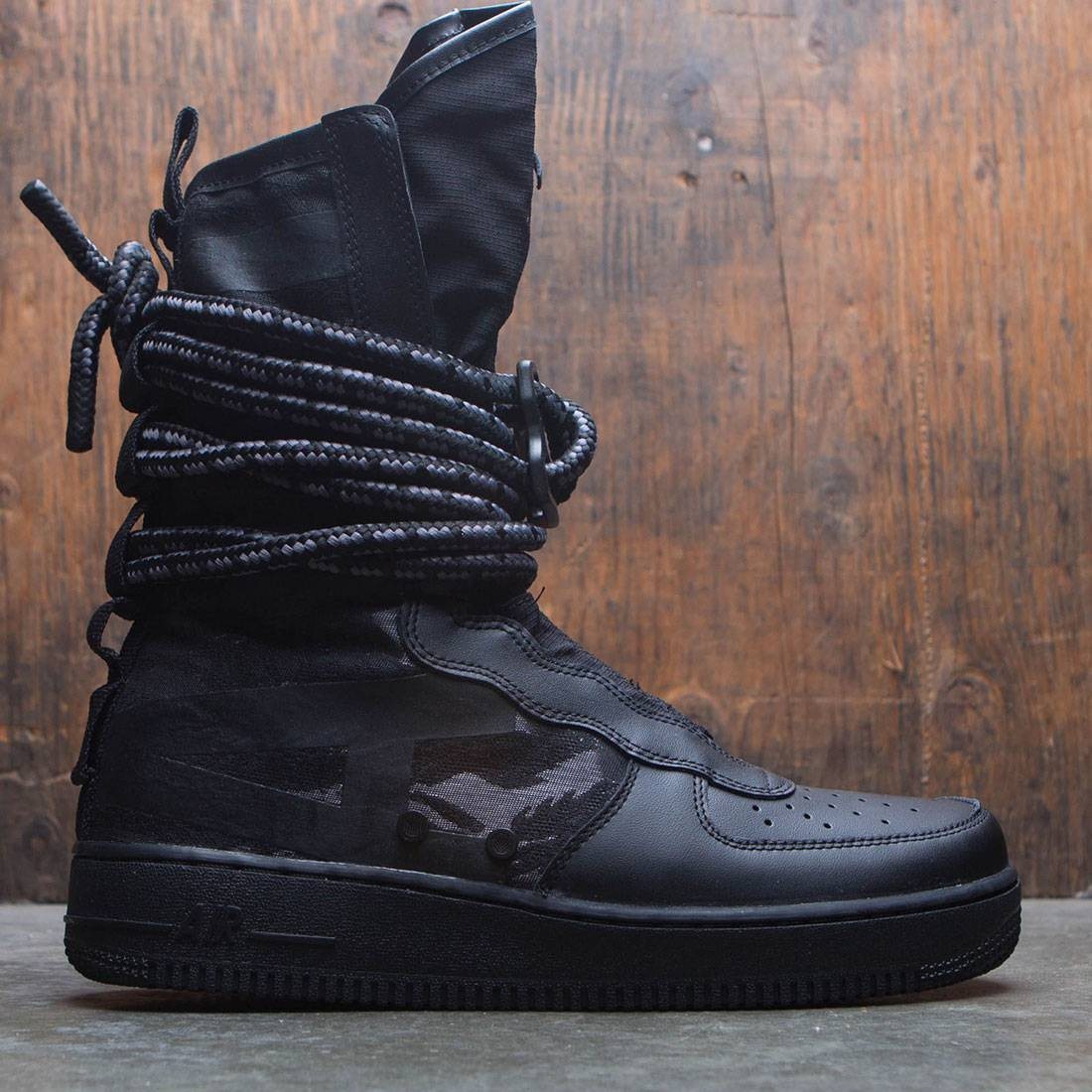 new style 3a382 7a7ac nike men sf air force 1 hi boot black black dark grey