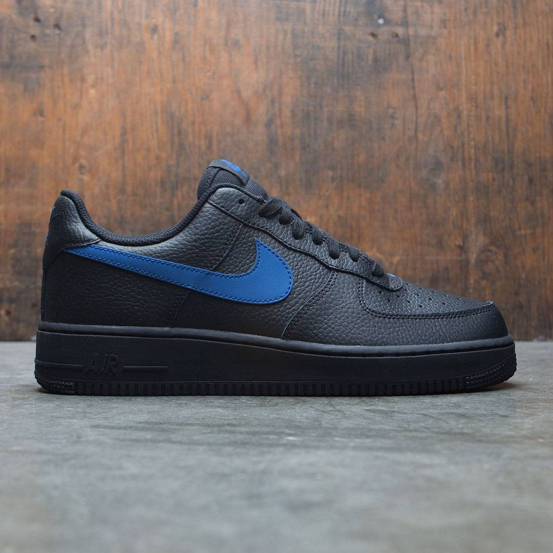 nike men air force 1  07 black gym blue 09841bddd4