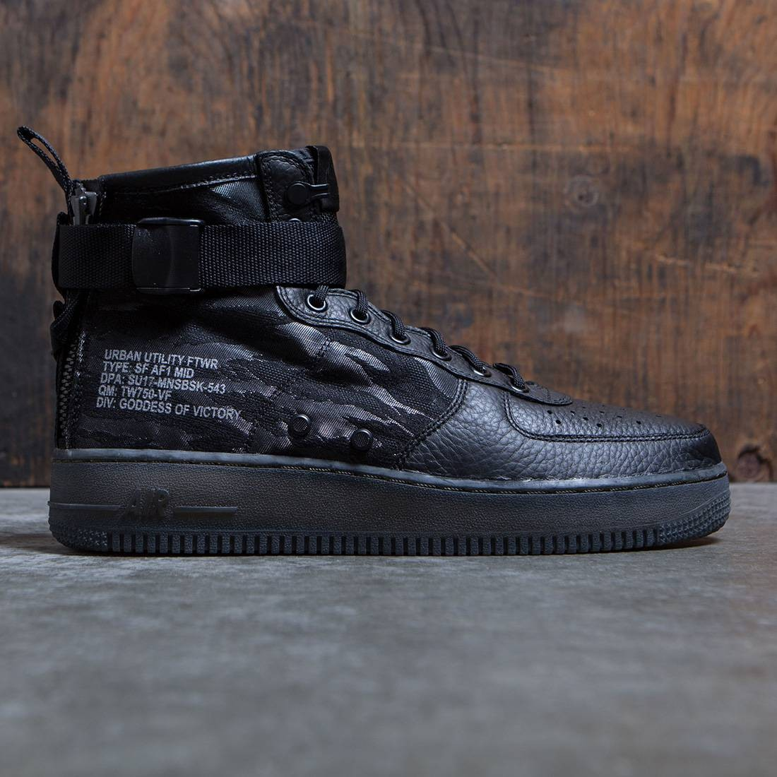 new product 753d1 7aa53 Nike Men Air Force 1 Mid Sf Special Field Qs (black / black-cargo khaki)