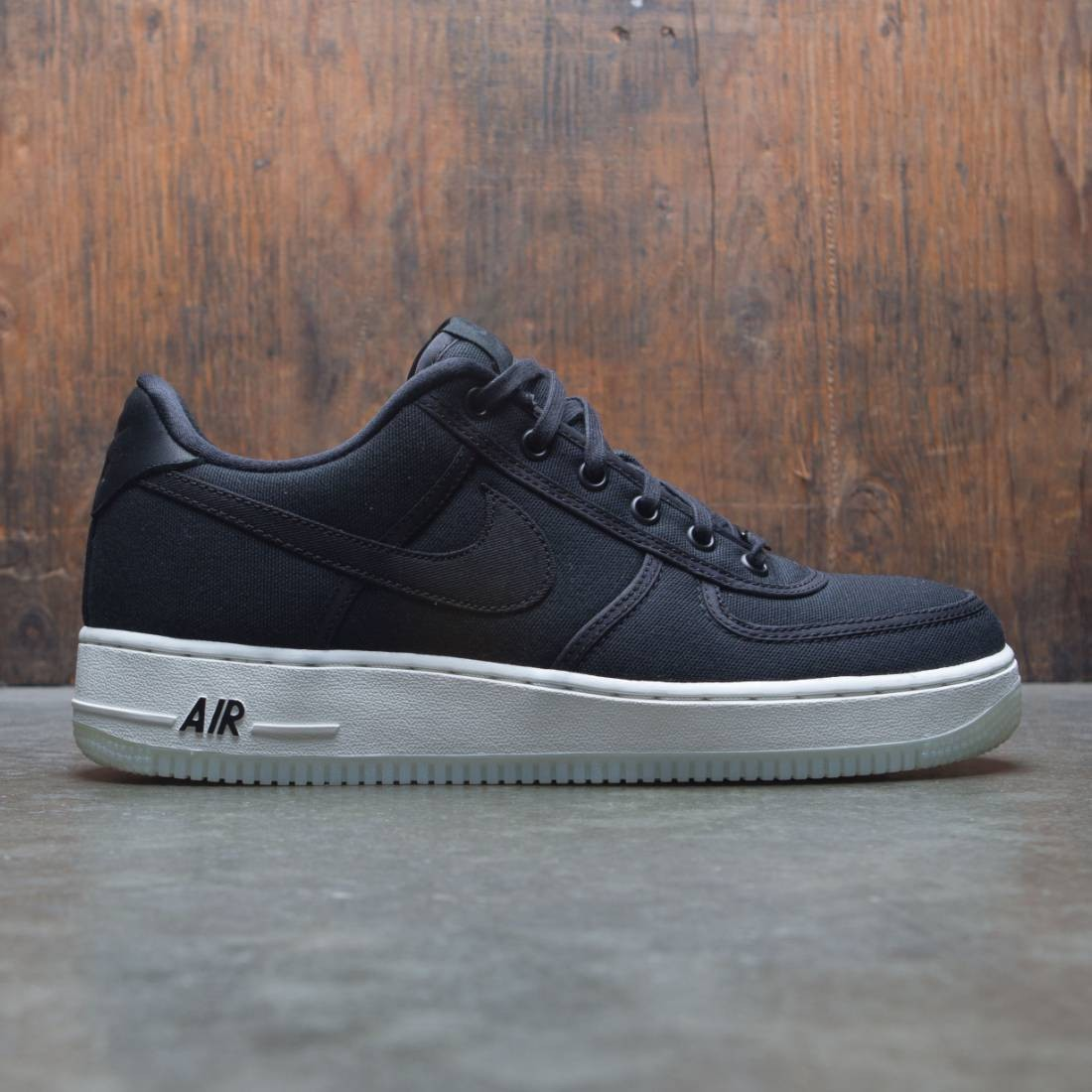 sports shoes d4279 c55be nike men air force 1 low retro qs canvas black black summit