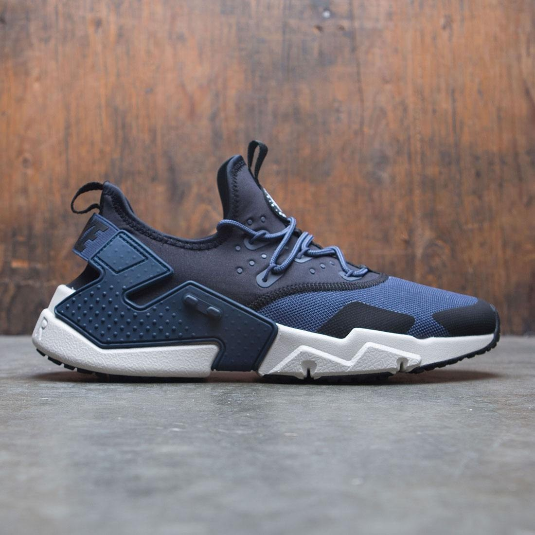 size 40 eaba1 07ece nike men air huarache drift thunder blue desert sand black white