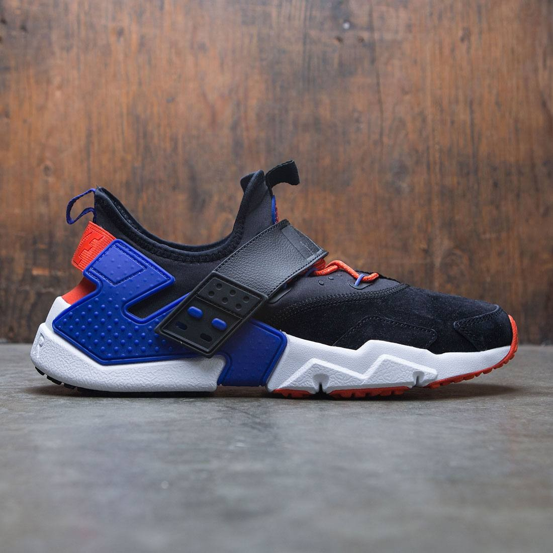 nike men air huarache drift premium black rush violet rush orange 7898c218e