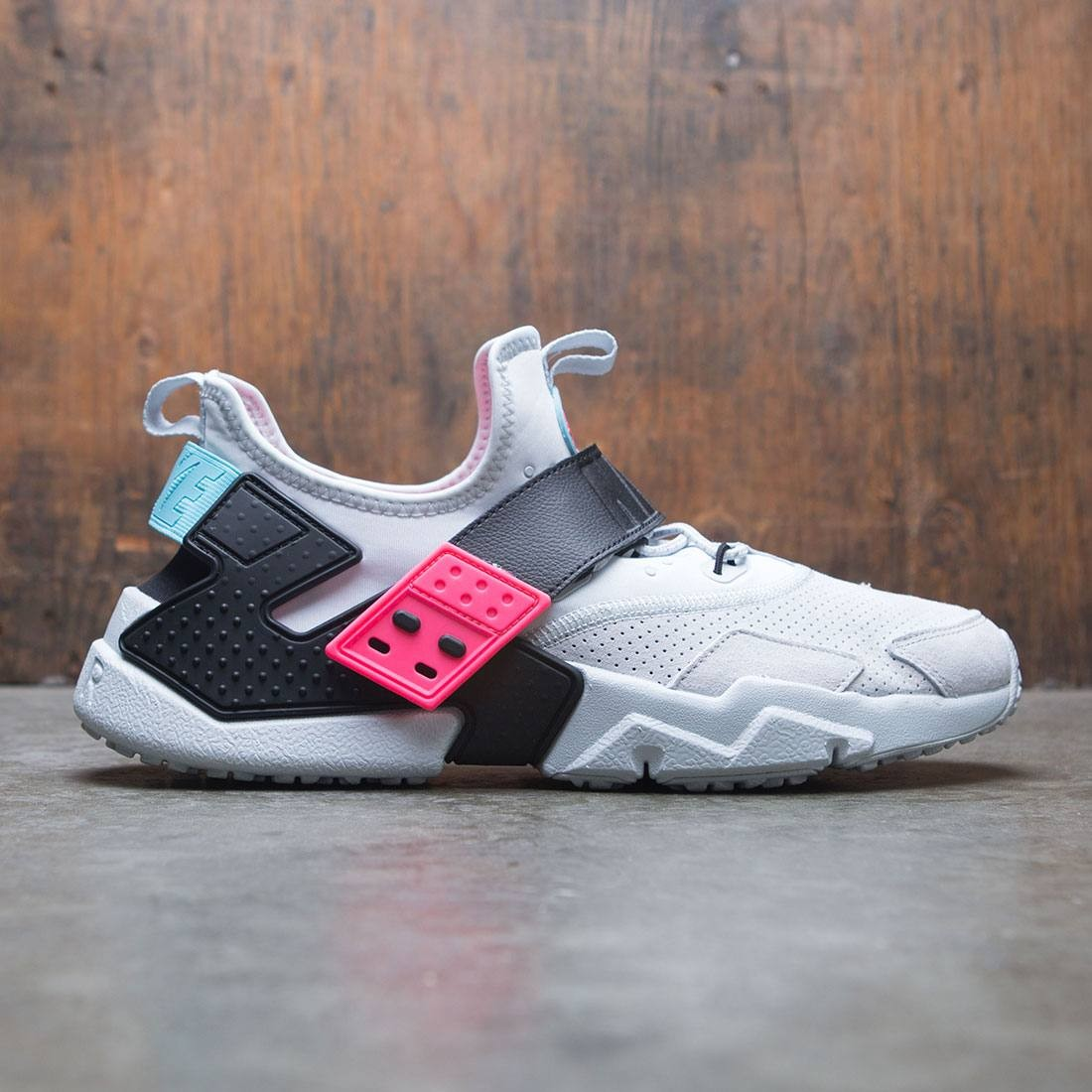 nike men air huarache drift premium pure platinum black racer pink c3dc17690