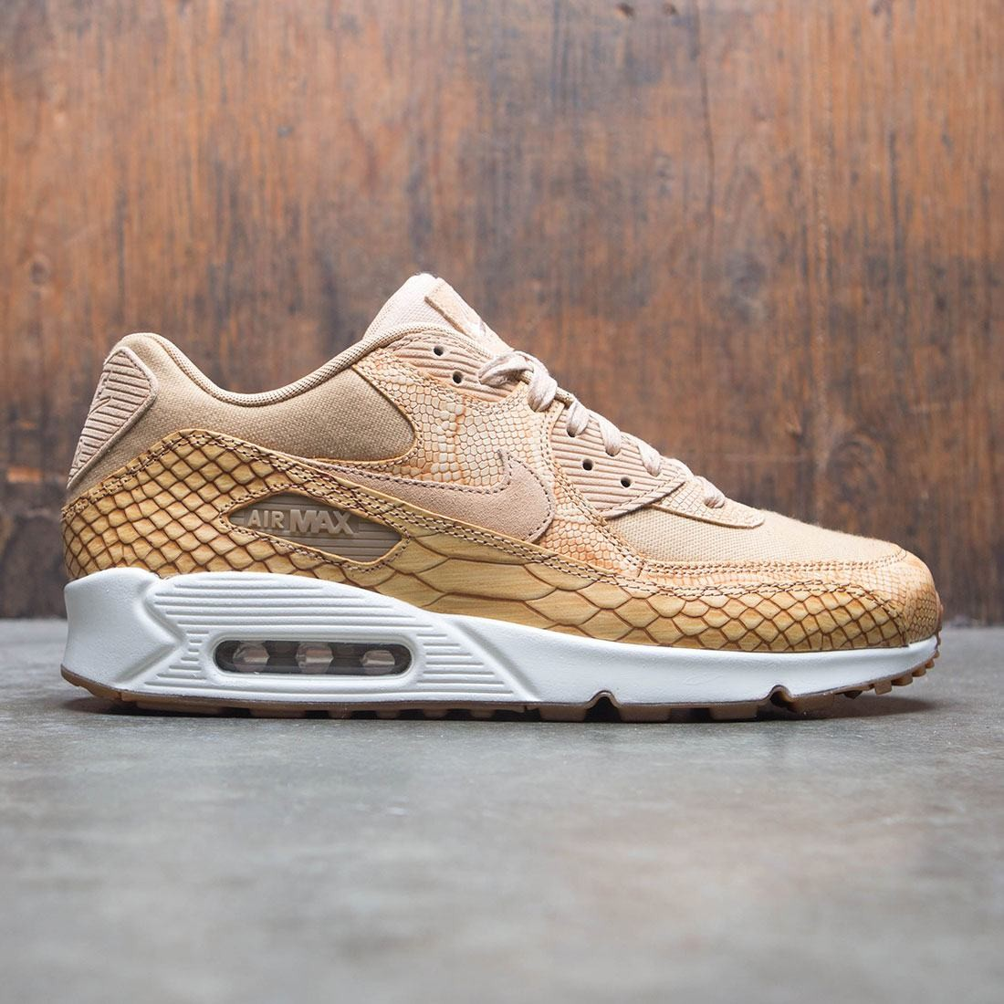 Nike Men Air Max 90 Premium Leather (vachetta tan vachetta tan elemental gold)