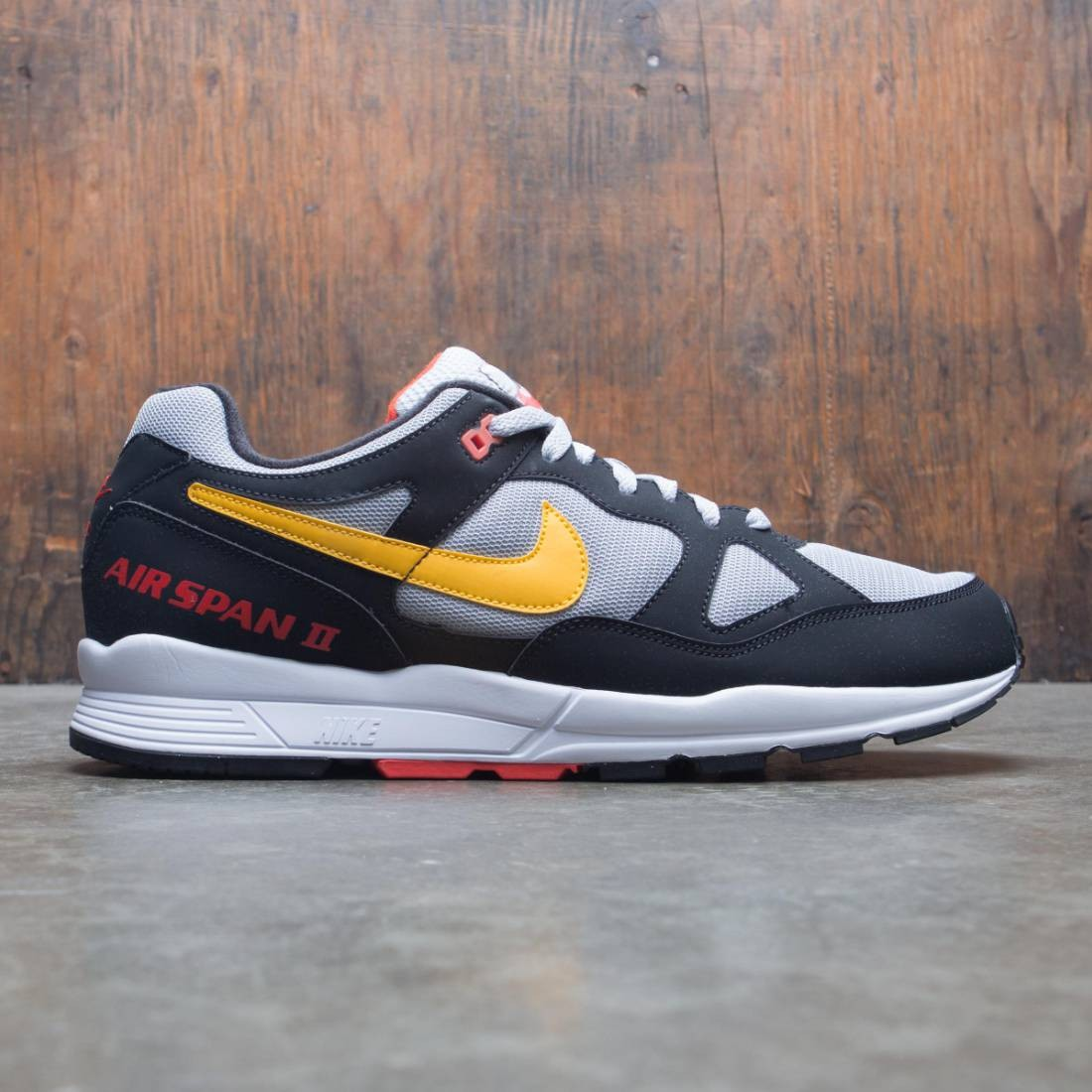 11be71b6d3265c nike men air span ii black yellow ochre wolf grey