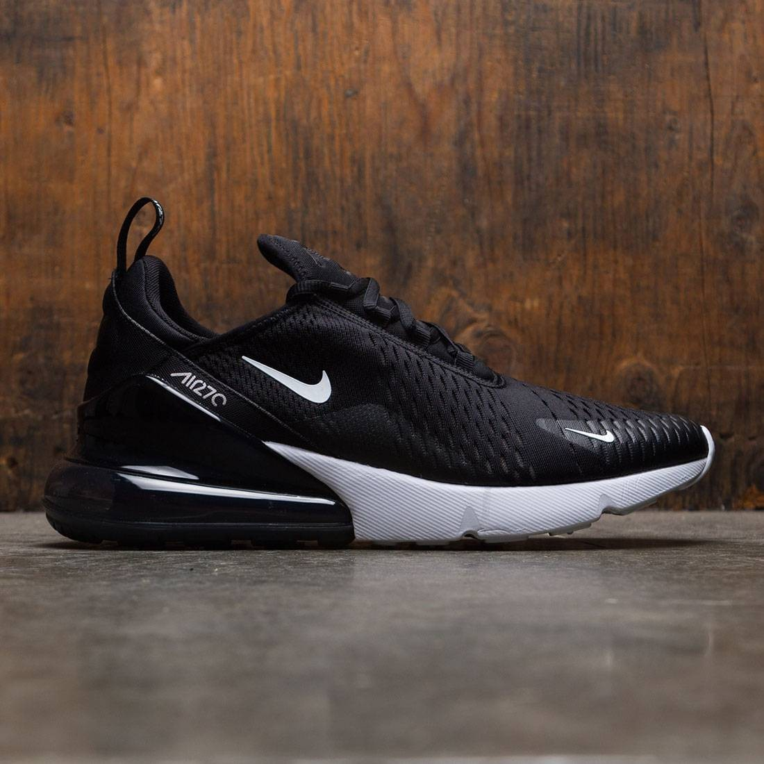 men nike air max 270 white/black