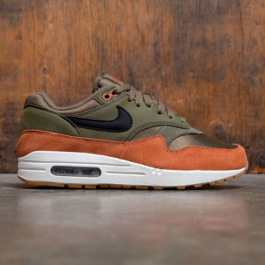 530d45609c nike men air max 1 olive canvas black dark russet sail