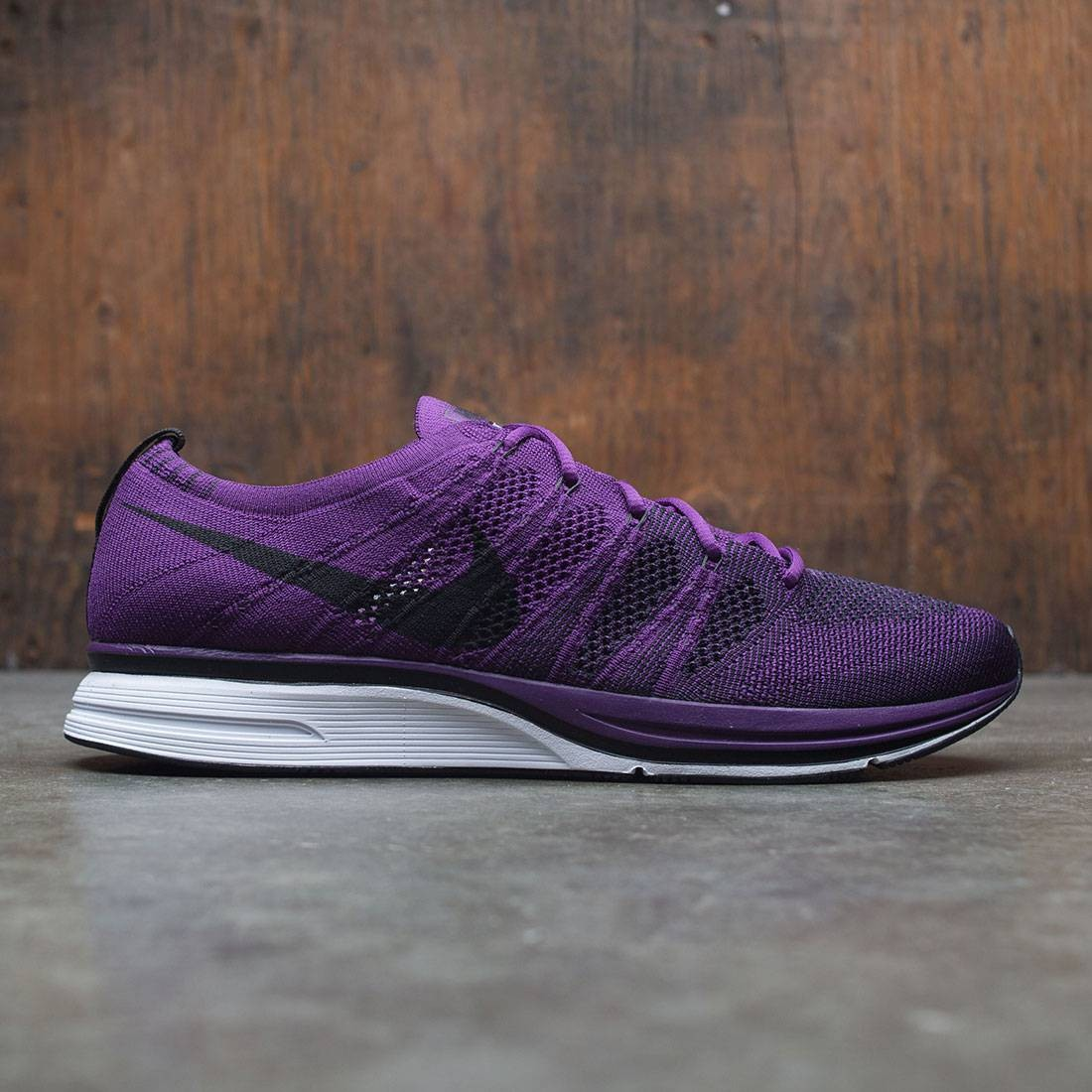 best service 5f430 8811b nike men flyknit trainer qs purple night purple black white