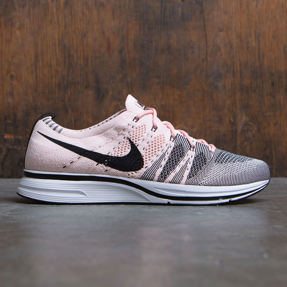 new products f8a2b 0f375 nike men flyknit trainer sunset tint black white