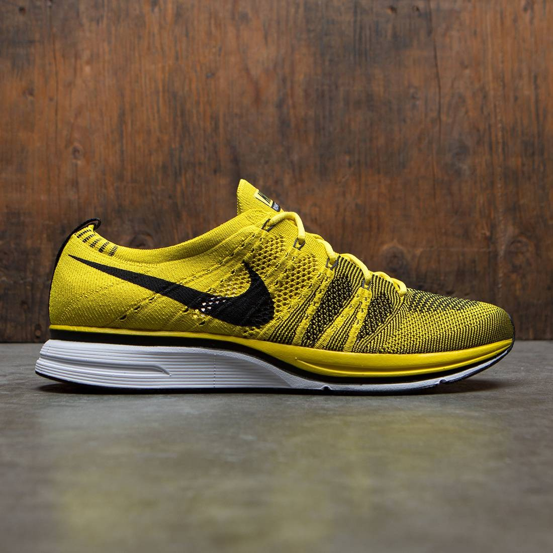 cheap for discount 3e3a6 9fbab nikelab men flyknit trainer qs yellow bright citron black white