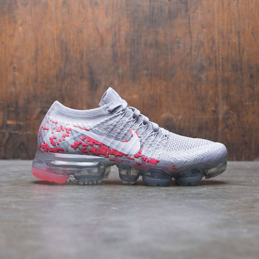 nike women w nike air vapormax flyknit c atmosphere grey white white hot  punch 675749893