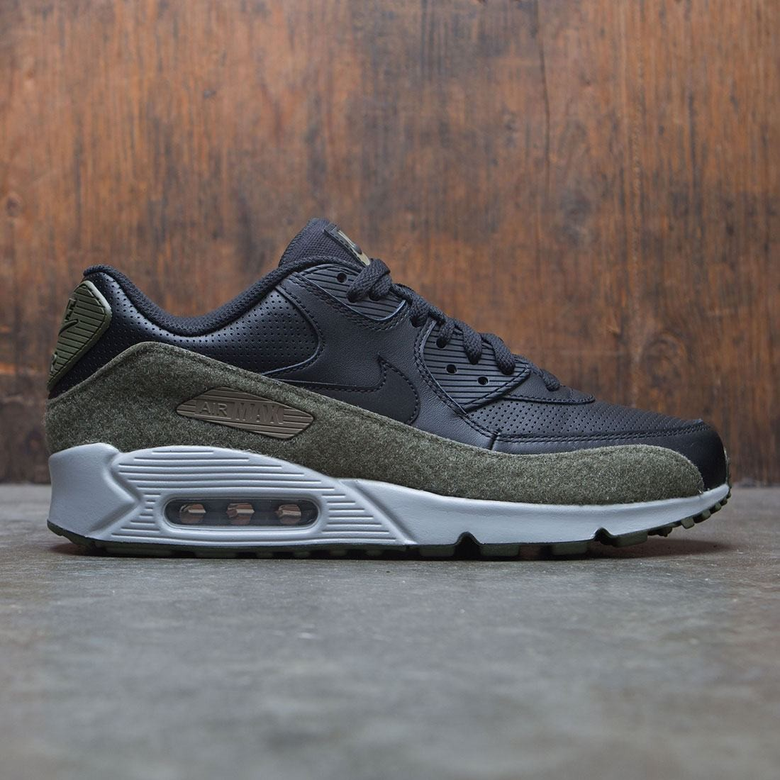huge selection of da276 3f9d7 nike men air max 90 hal black black medium olive flt silver