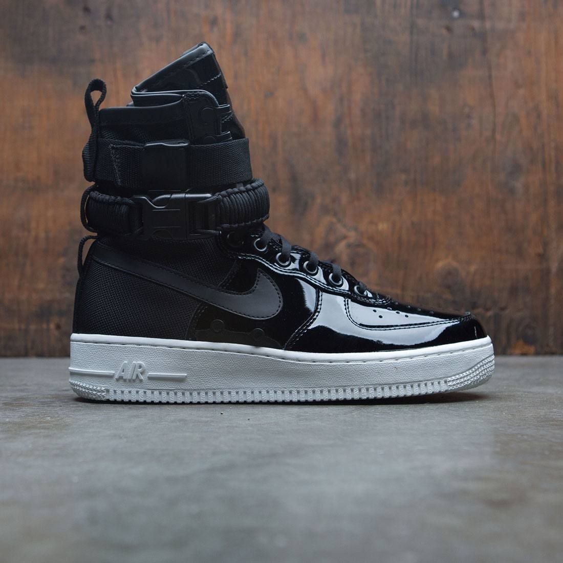 nike women air force 1 sf special edition premium black black reflect  silver cool grey e66c86e82