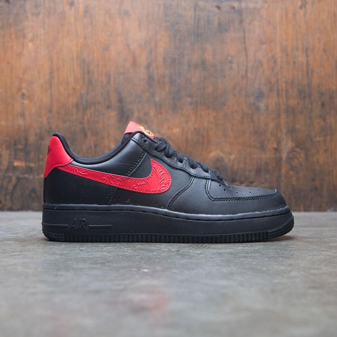 nike women w air force 1 07 f black university red 87d80766c