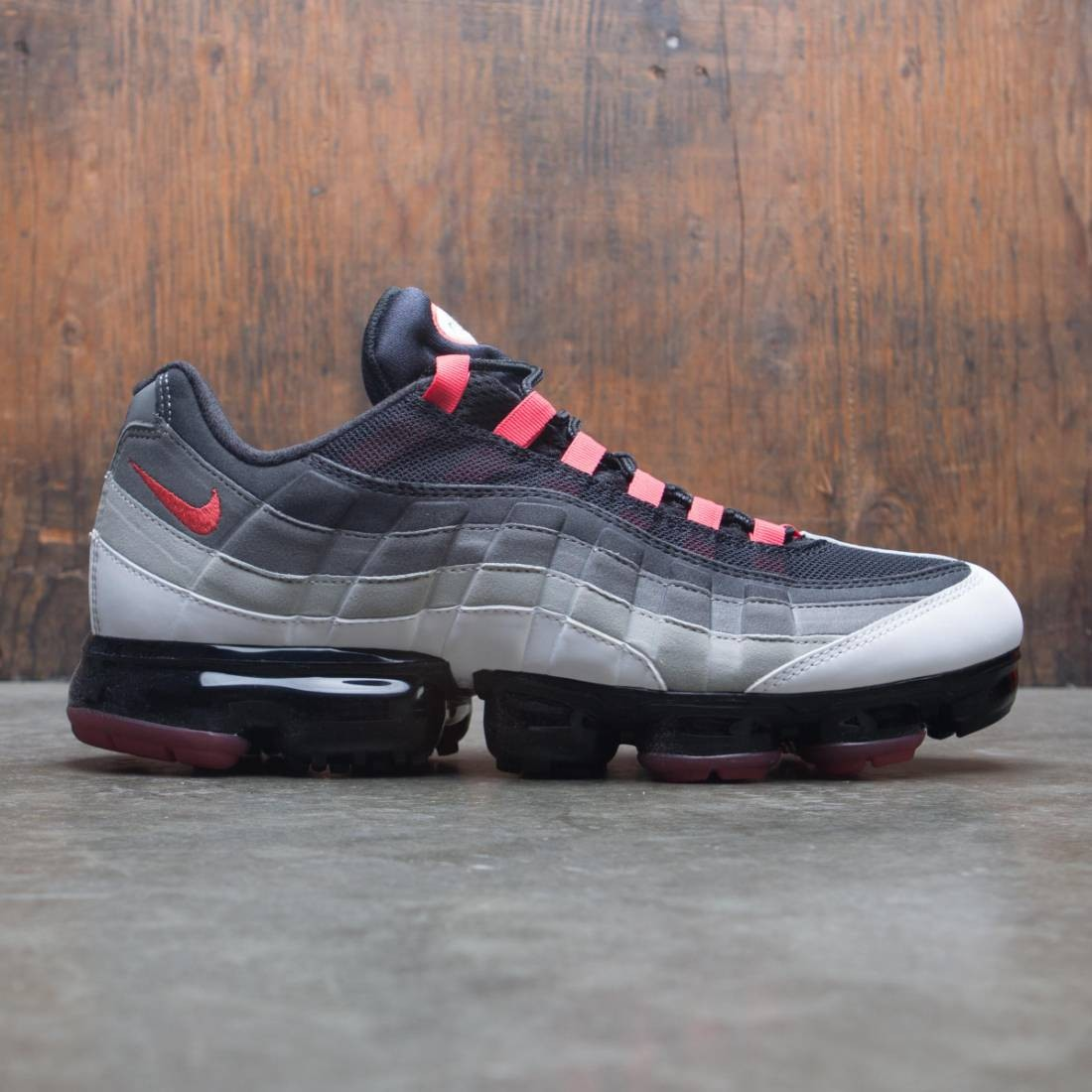 quality design 62239 c4158 nike men air vapormax 95 white hot red dk pewter granite