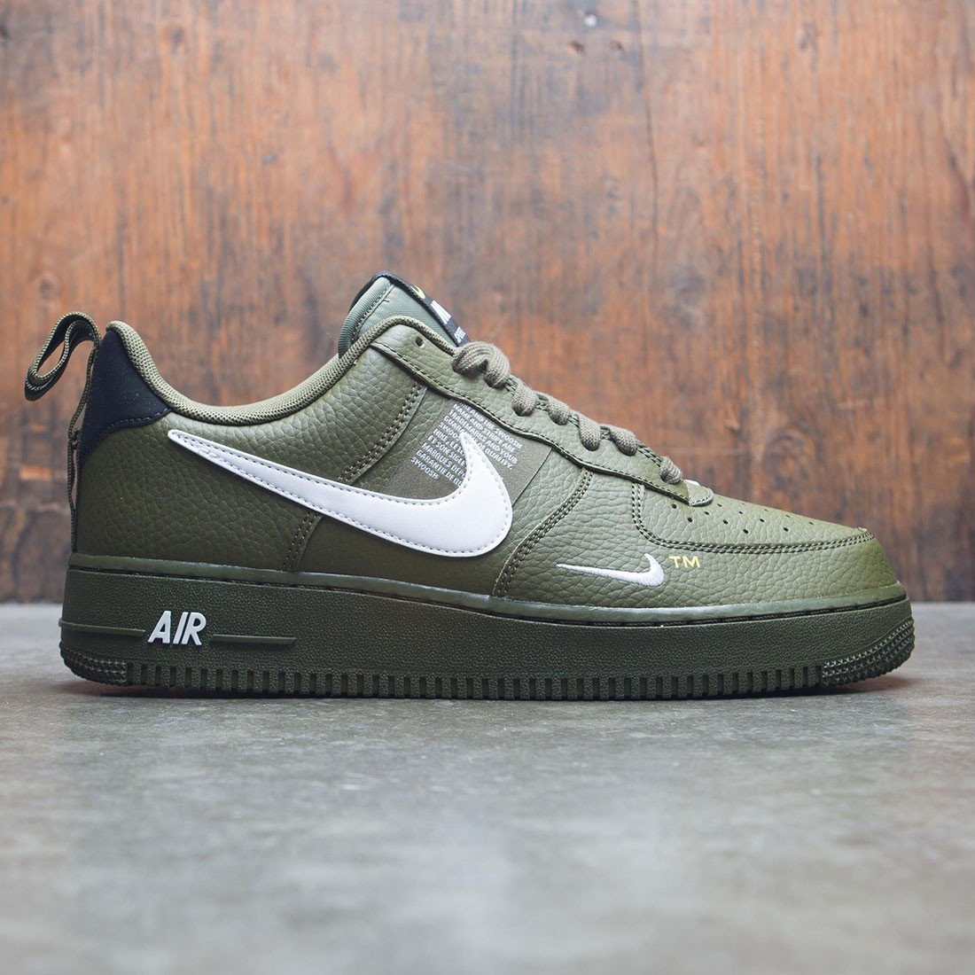a392eef441 ... coupon for nike men air force 1 07 lv8 utility olive canvas white black  tour yellow