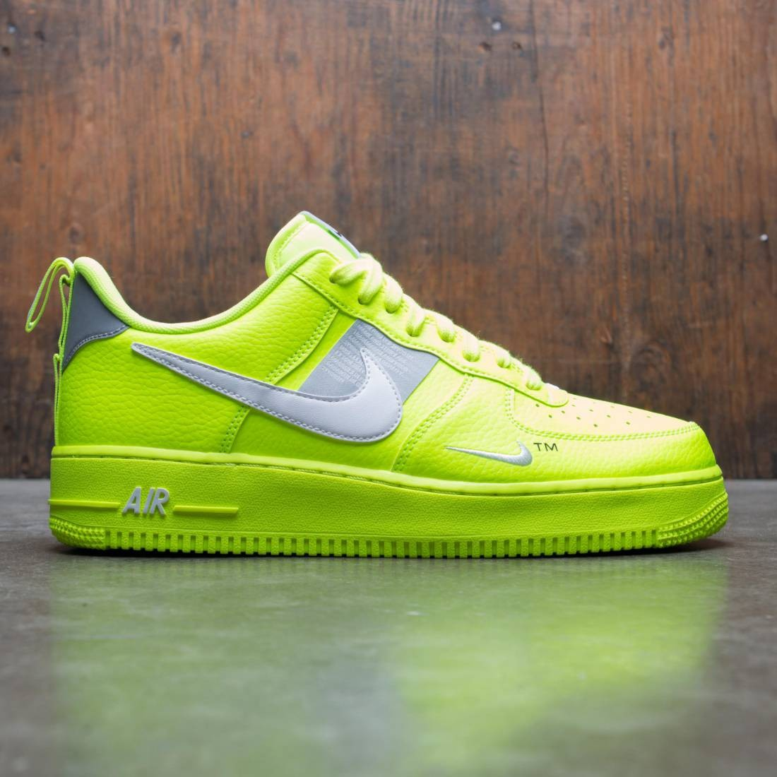size 40 365bc c2a7b nike men air force 1  07 lv8 utility volt white black wolf grey