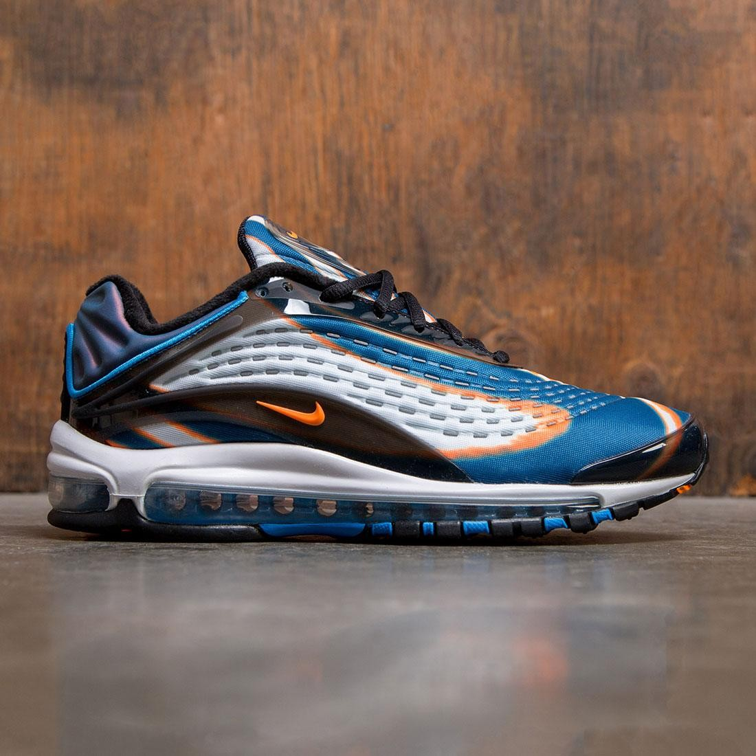 98c55ff106 nike men air max deluxe cool grey total orange blue force black