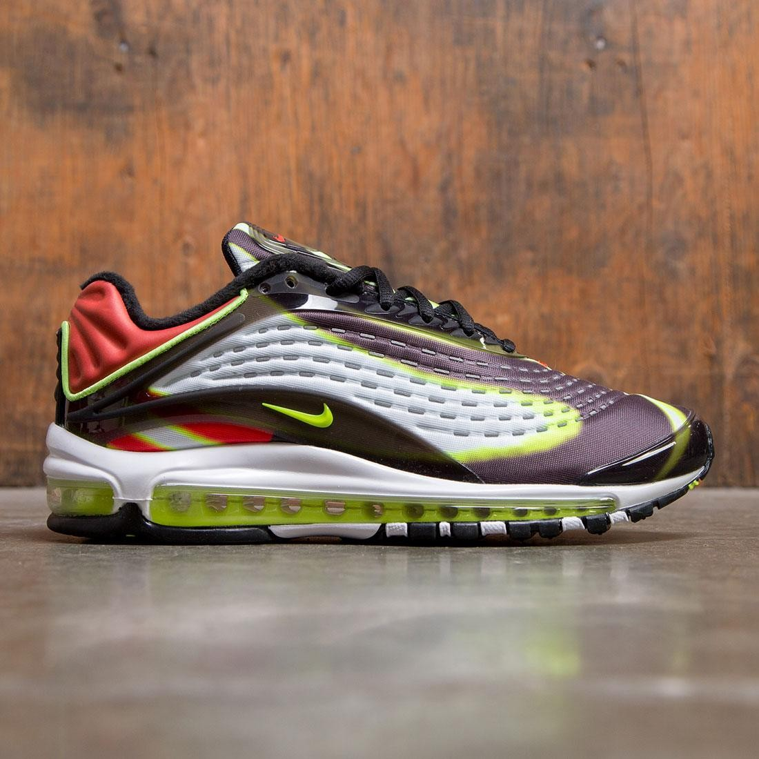 91104f6965 nike men air max deluxe black volt habanero red white
