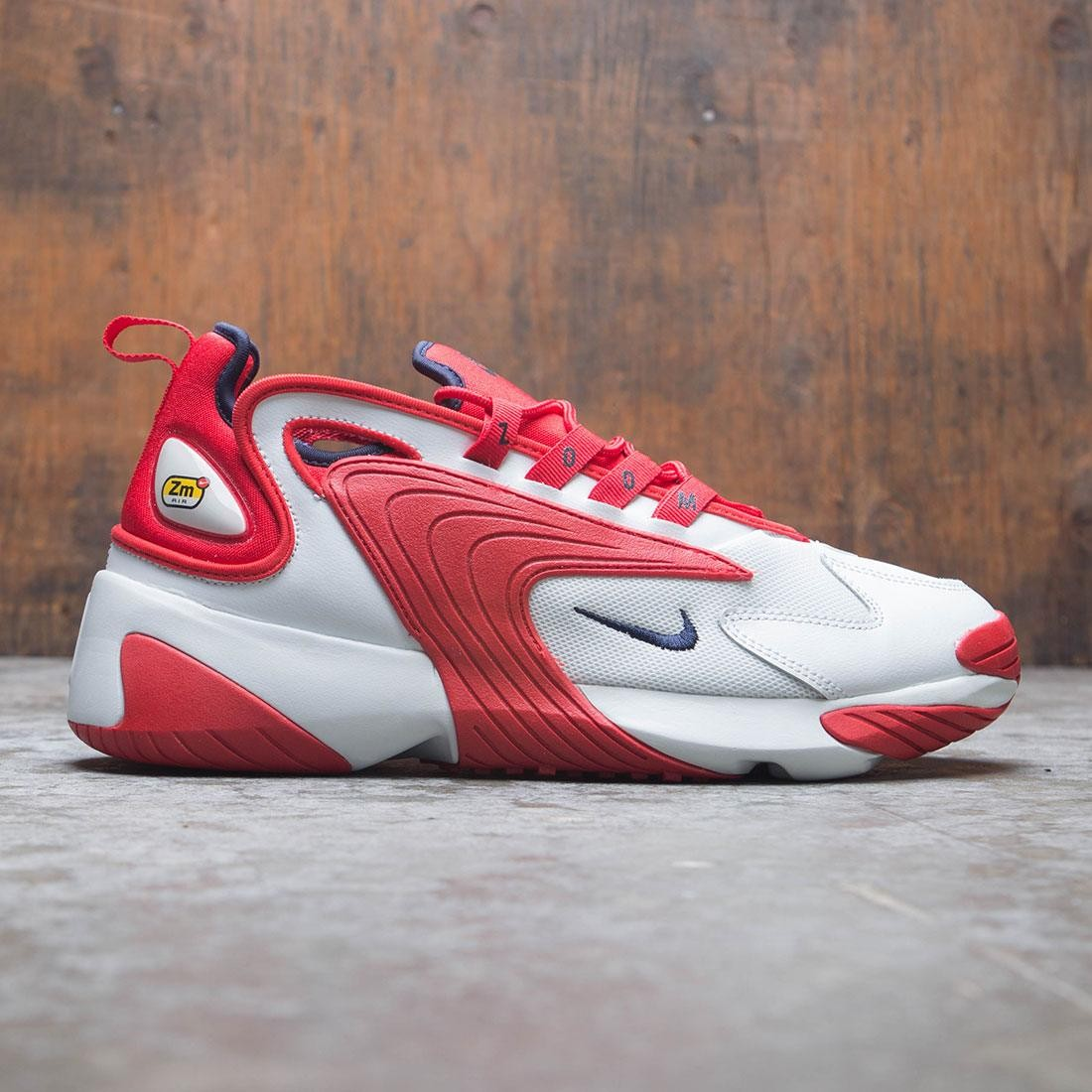 brand new a28a0 88c43 nike men zoom 2k off white obsidian university red
