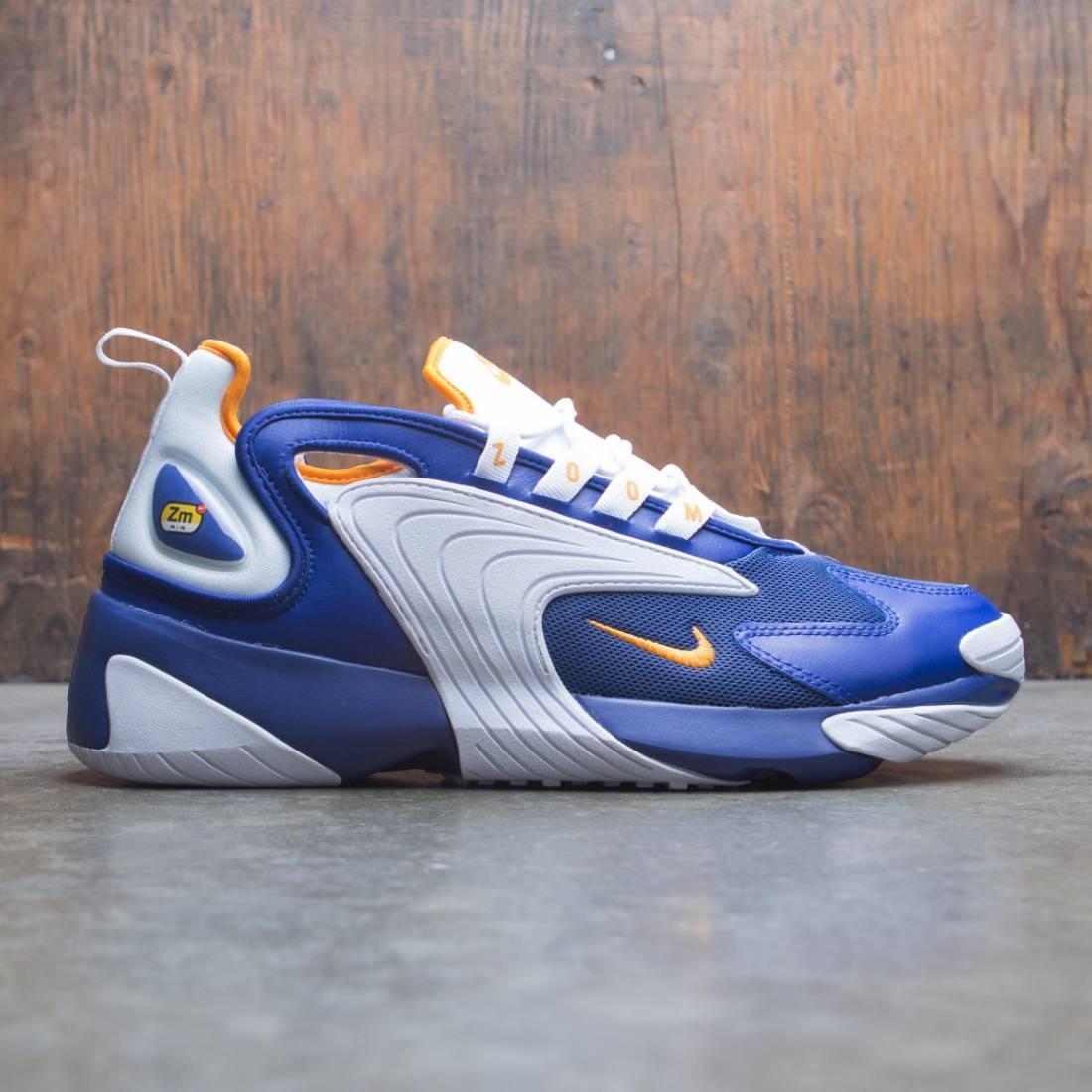 Nike Men Zoom 2k Deep Royal Blue Orange Peel White