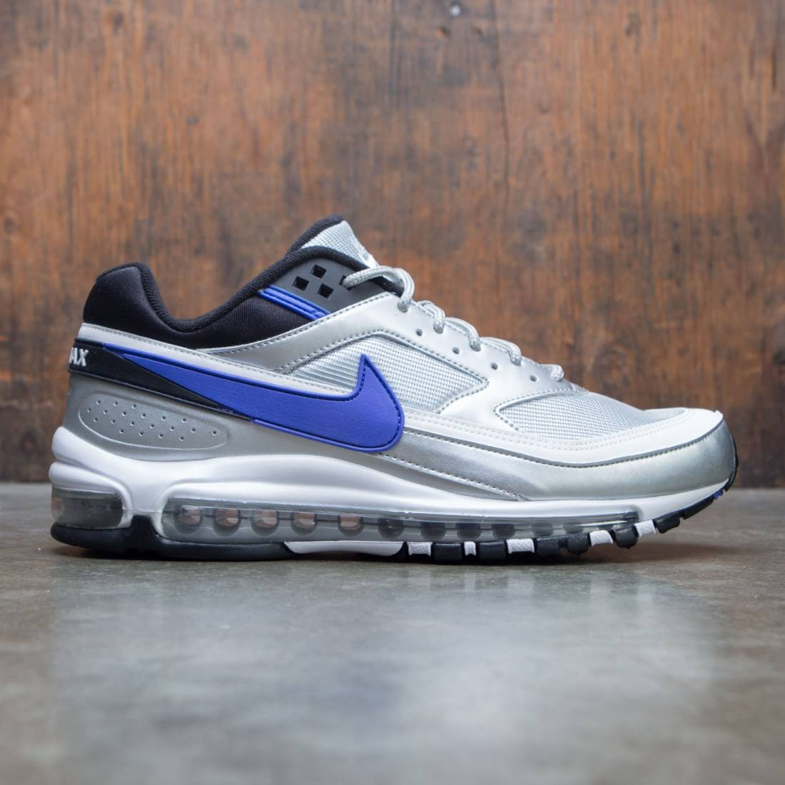 4317c9c72ea nike men air max 97 bw metallic silver persian violet black