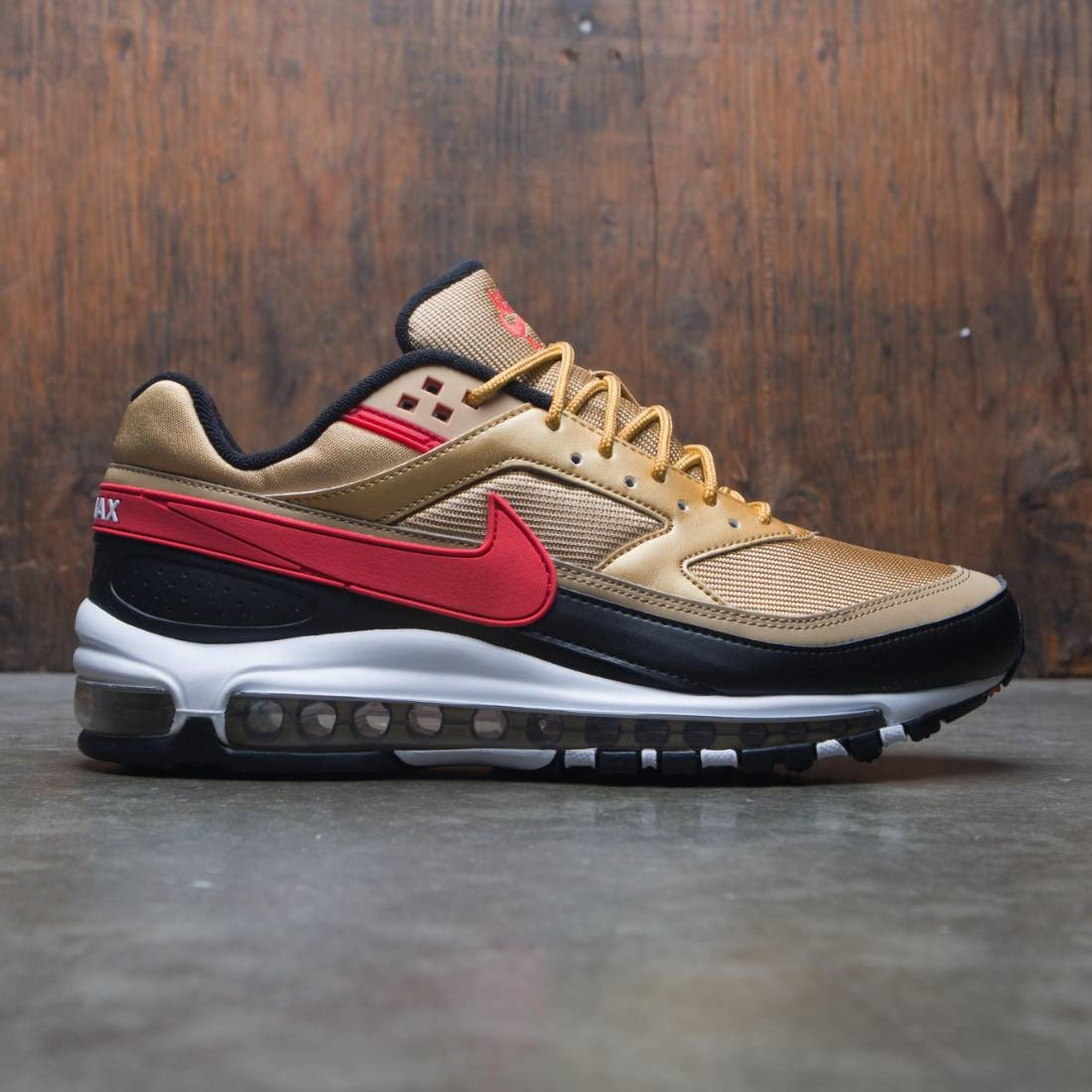 buy online a6acf b62c7 Nike Men Air Max 97 / Bw (metallic gold / university red-white-black)