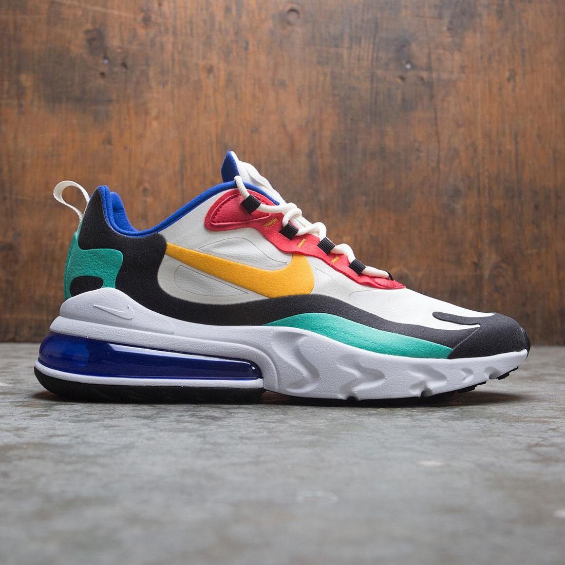 nike men air max 270 react bauhaus art phantom university gold ...