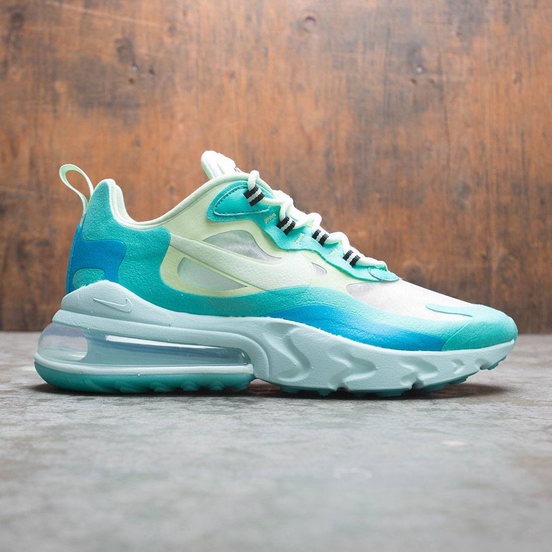 hot sale online 8cd6c 77fc9 Nike Men Air Max 270 React (hyper jade / frosted spruce-barely volt)