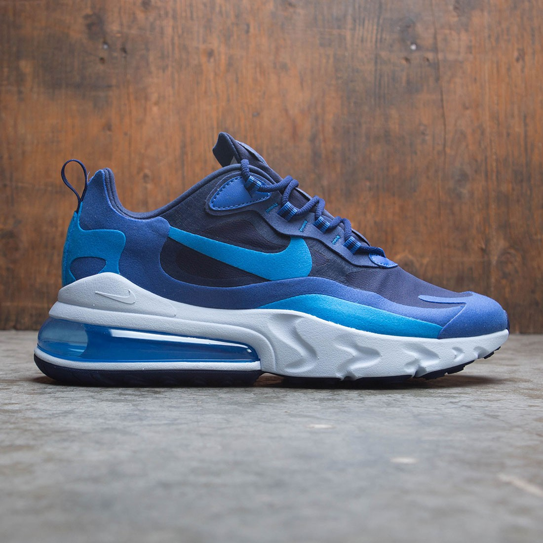 most popular competitive price half price nike men air max 270 react impressionism art blue void photo blue ...