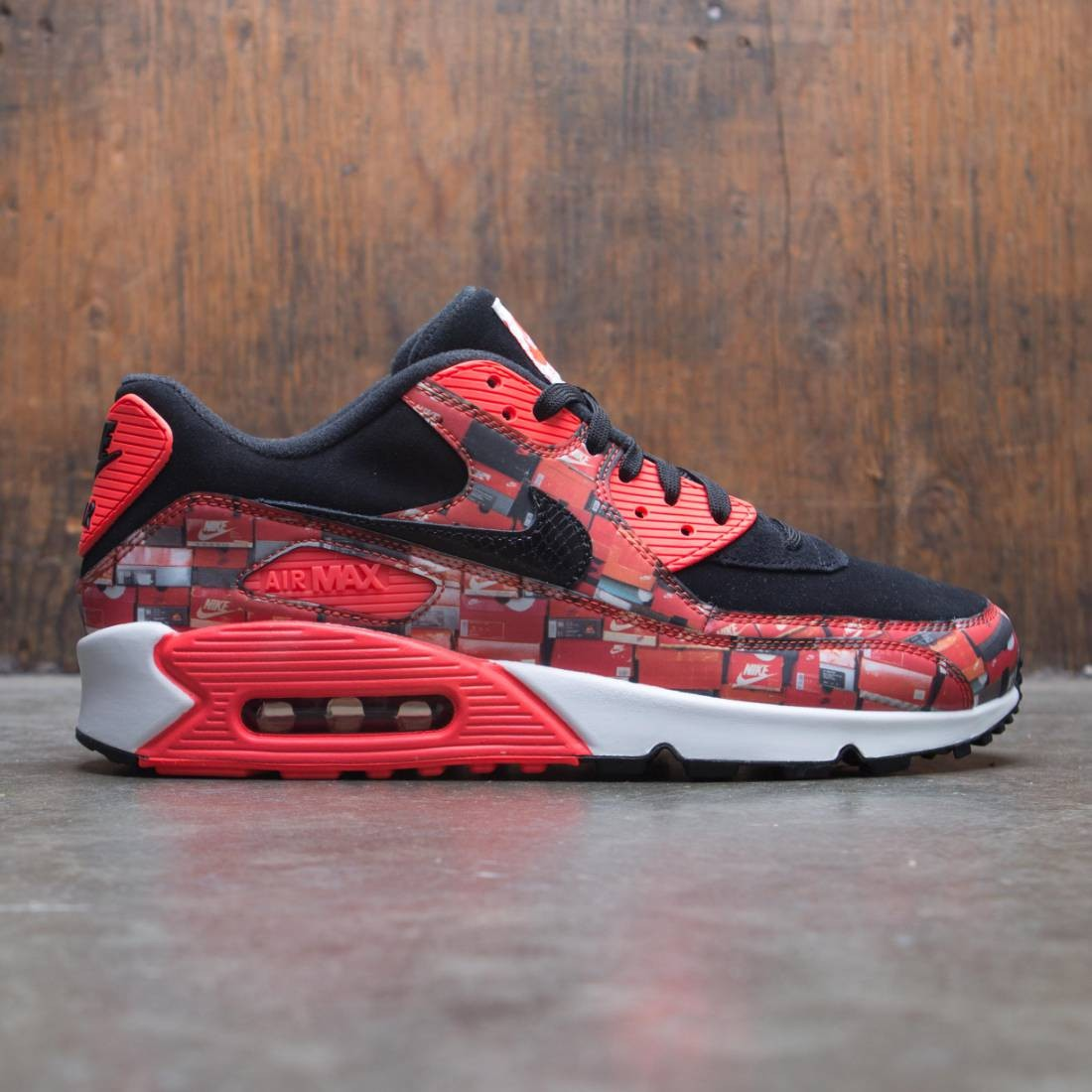 e889bd252a nike men air max 90 atmos print black bright crimson white