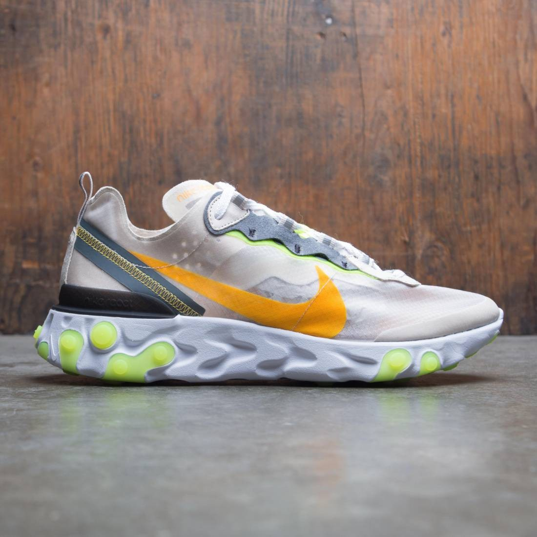 Nike Men React Element 87 (lt orewood brn / laser orange-volt glow)