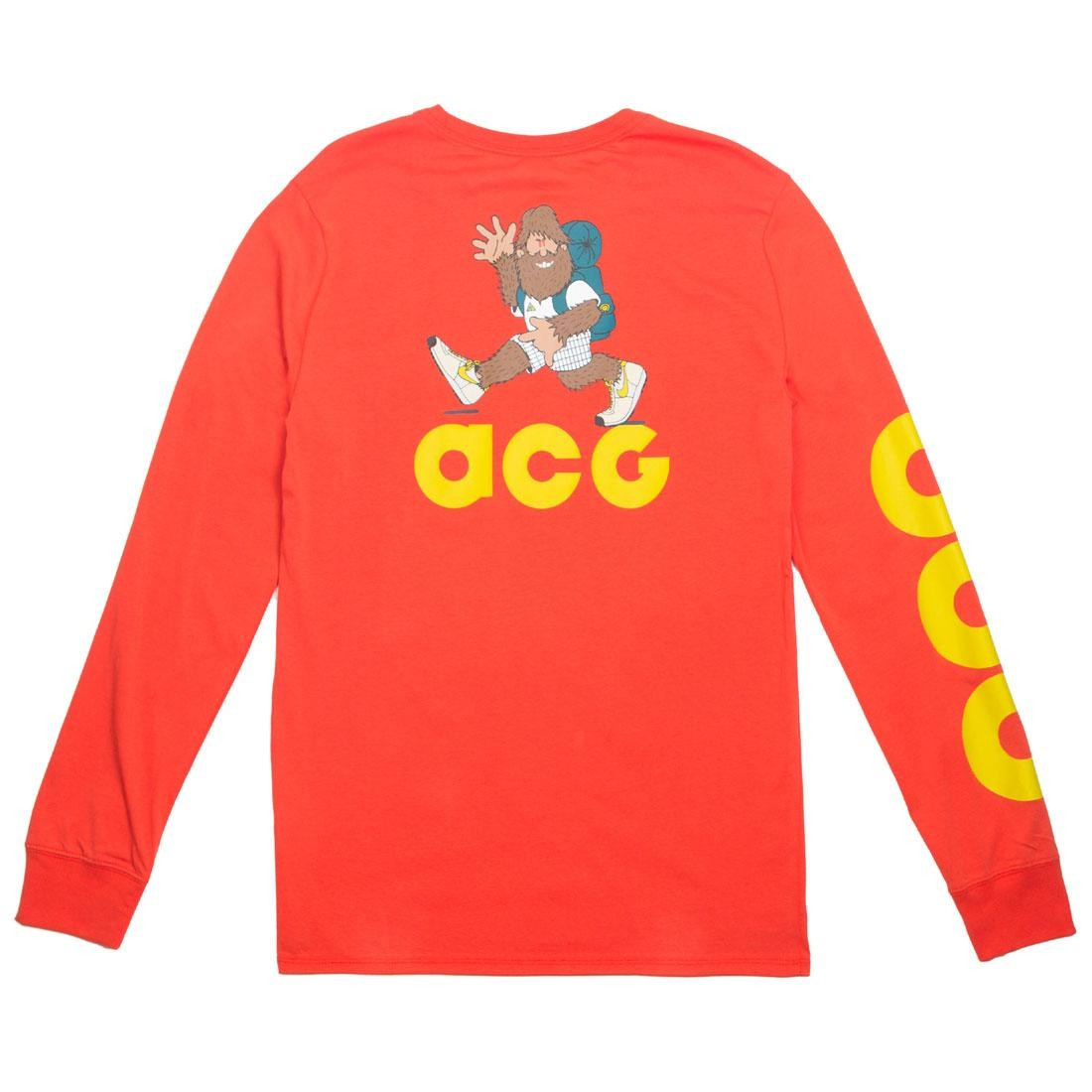 Nike Men Sportswear Acg Long Sleeve Tee (habanero red / bright citron)