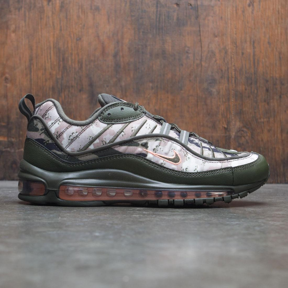 sneakers for cheap aa55e 85d37 nike men air max 98 camo cargo khaki sunset tint black