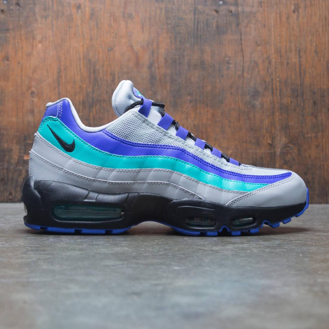 the best attitude e52d2 229c0 nike men air max 95 og wolf grey black indigo burst hyper jade