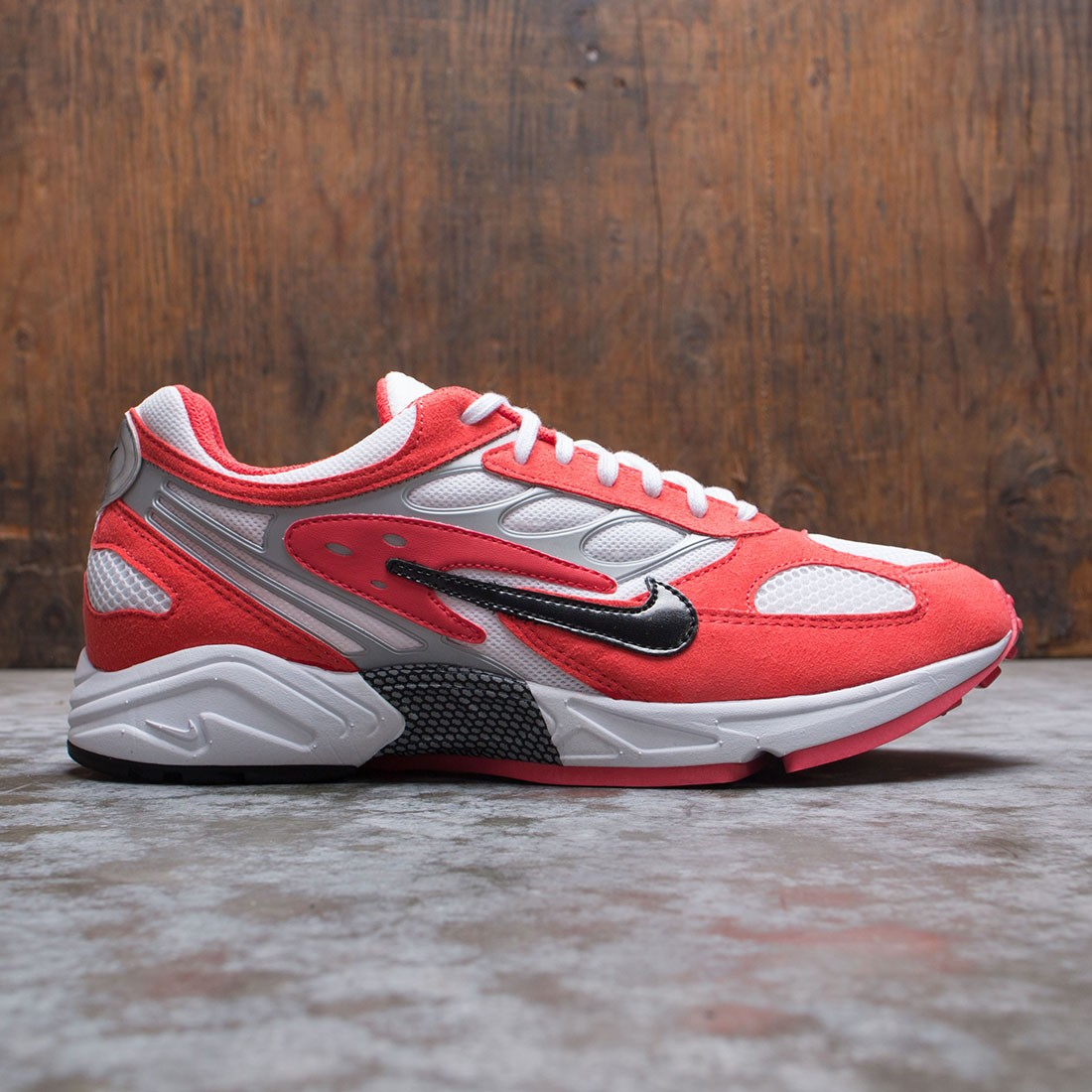 Nike Men Air Ghost Racer (track red / black-white-metallic silver)