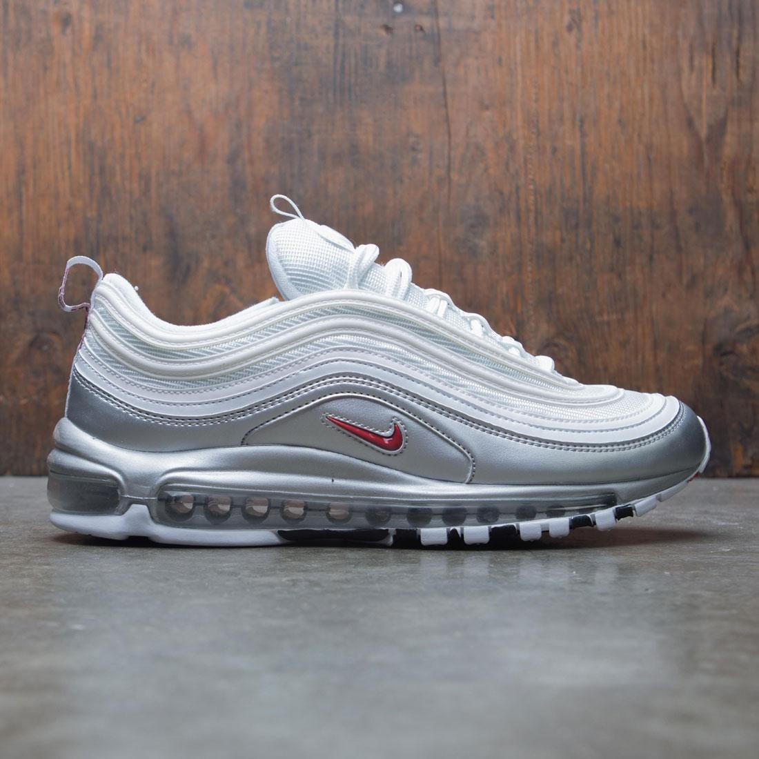 newest 8655e 8101b Nike Men Air Max 97 Qs (white / varsity red-metallic silver-black)