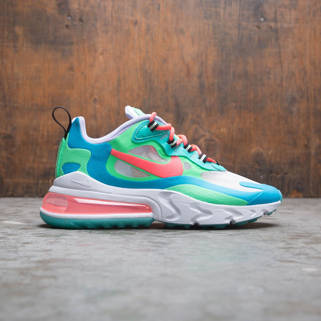 newest collection e2557 d69f9 Nike Women Air Max 270 React (electro green / flash crimson-blue lagoon)