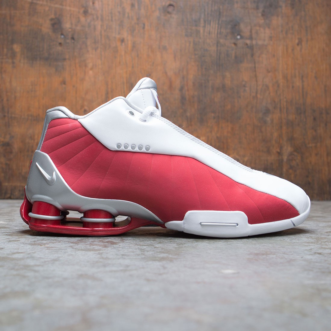 Nike Men Shox Bb4 (white / metallic silver-varsity red)