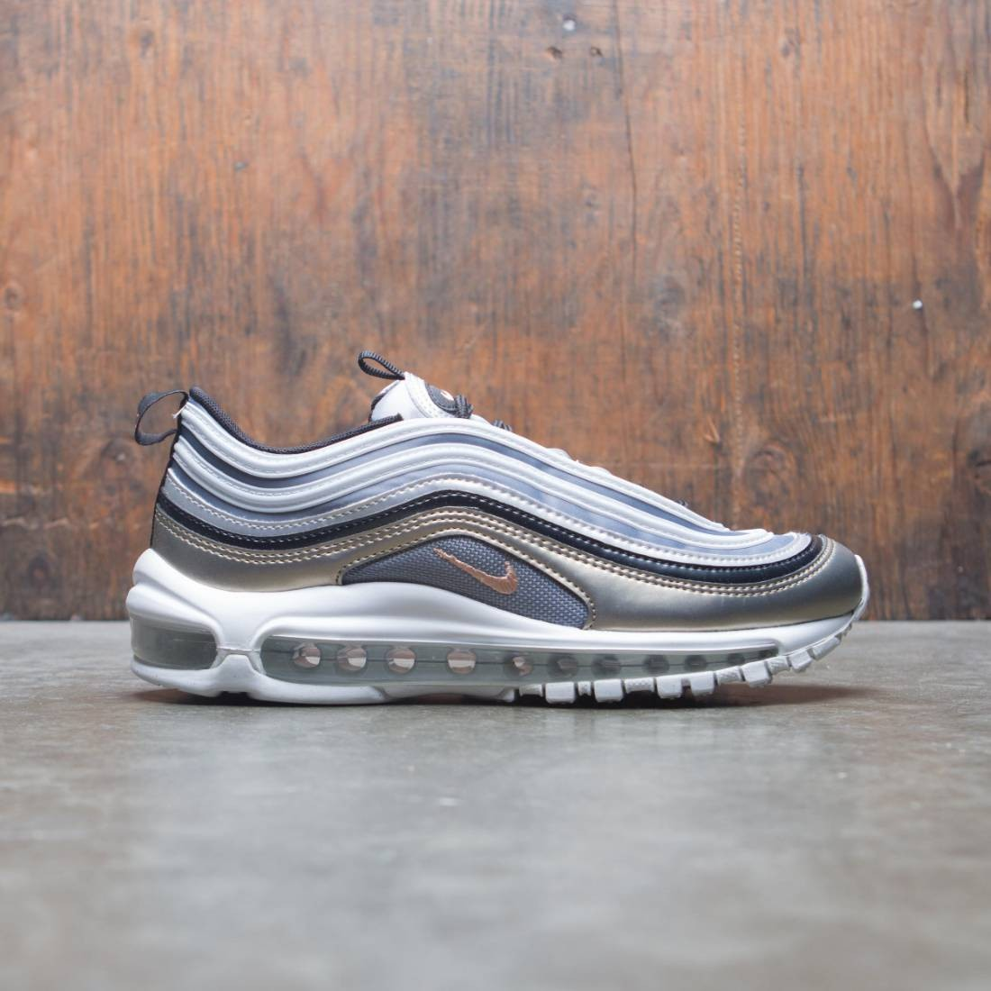 Nike Big Kids Air Max 97 Se (mtlc platinum / mtlc red bronze)