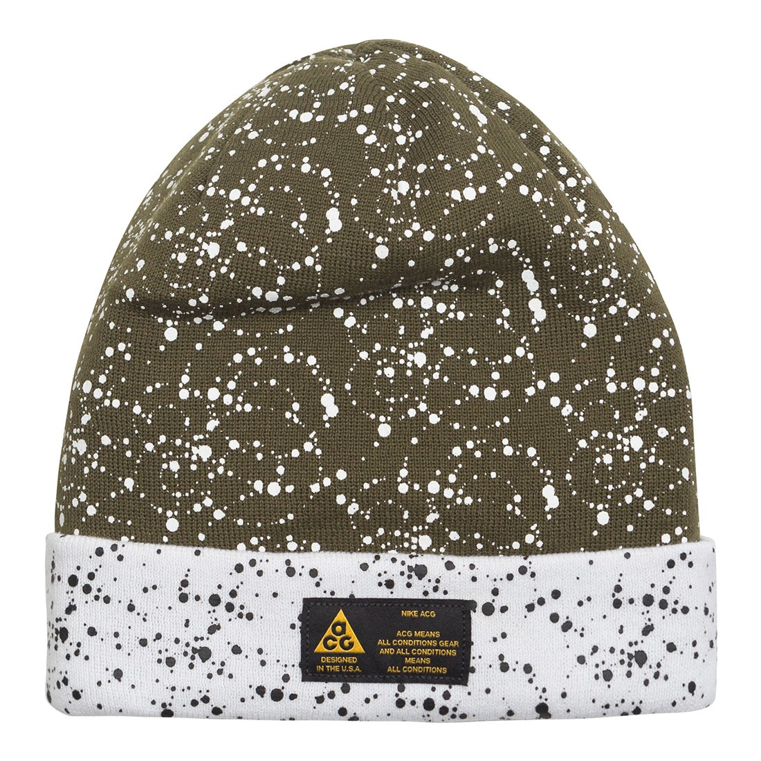 Nike Men Nrg A14 Beanie (olive canvas / white / volt glow)