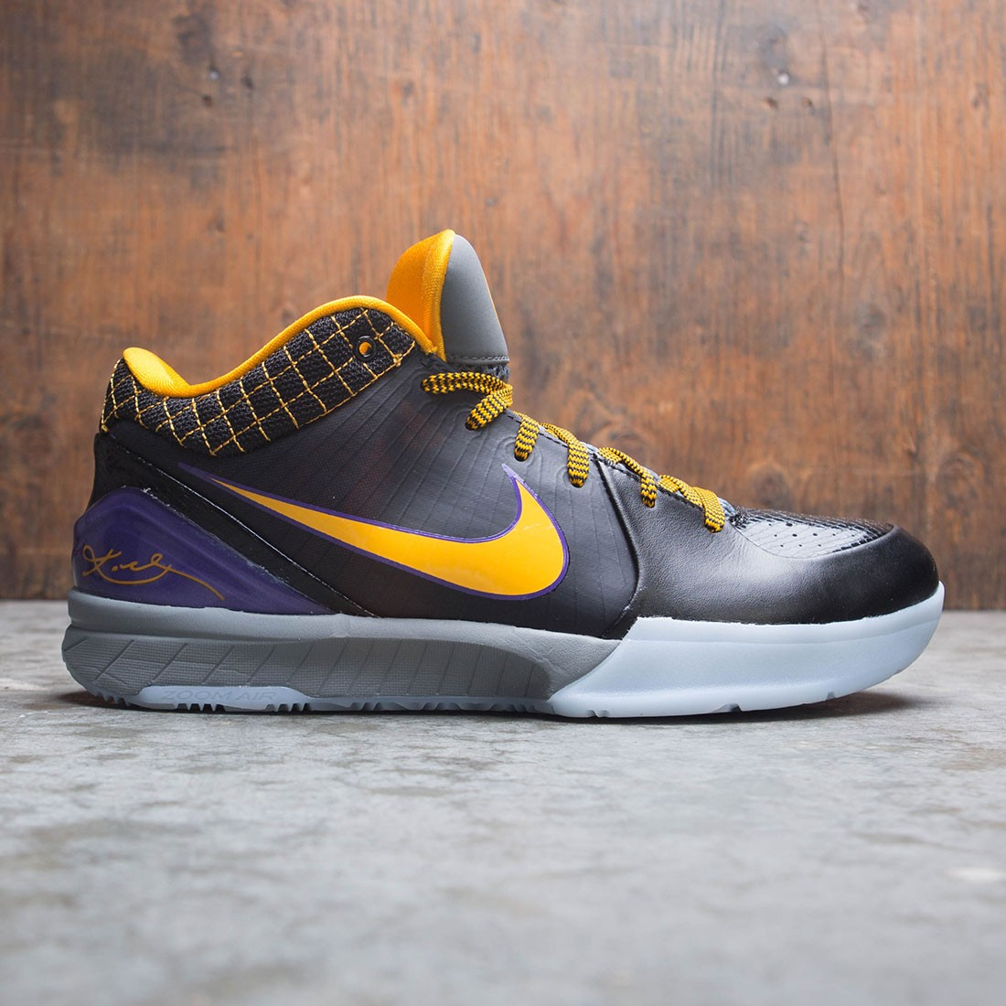 Nike Men Kobe Iv Protro (black / del sol-varsity purple)