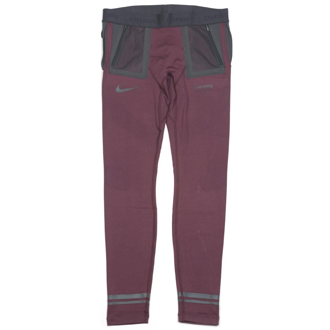Nike Men U Nrg Gyakusou Helix Tights (deep burgundy / off noir / dk smoke grey)