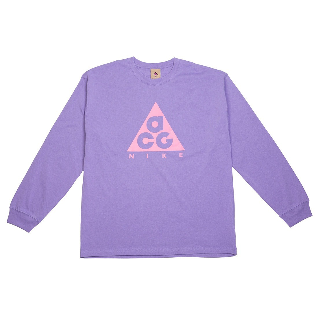 Nike Men Nrg Acg Logo Long Sleeves Tee (space purple / lotus pink)