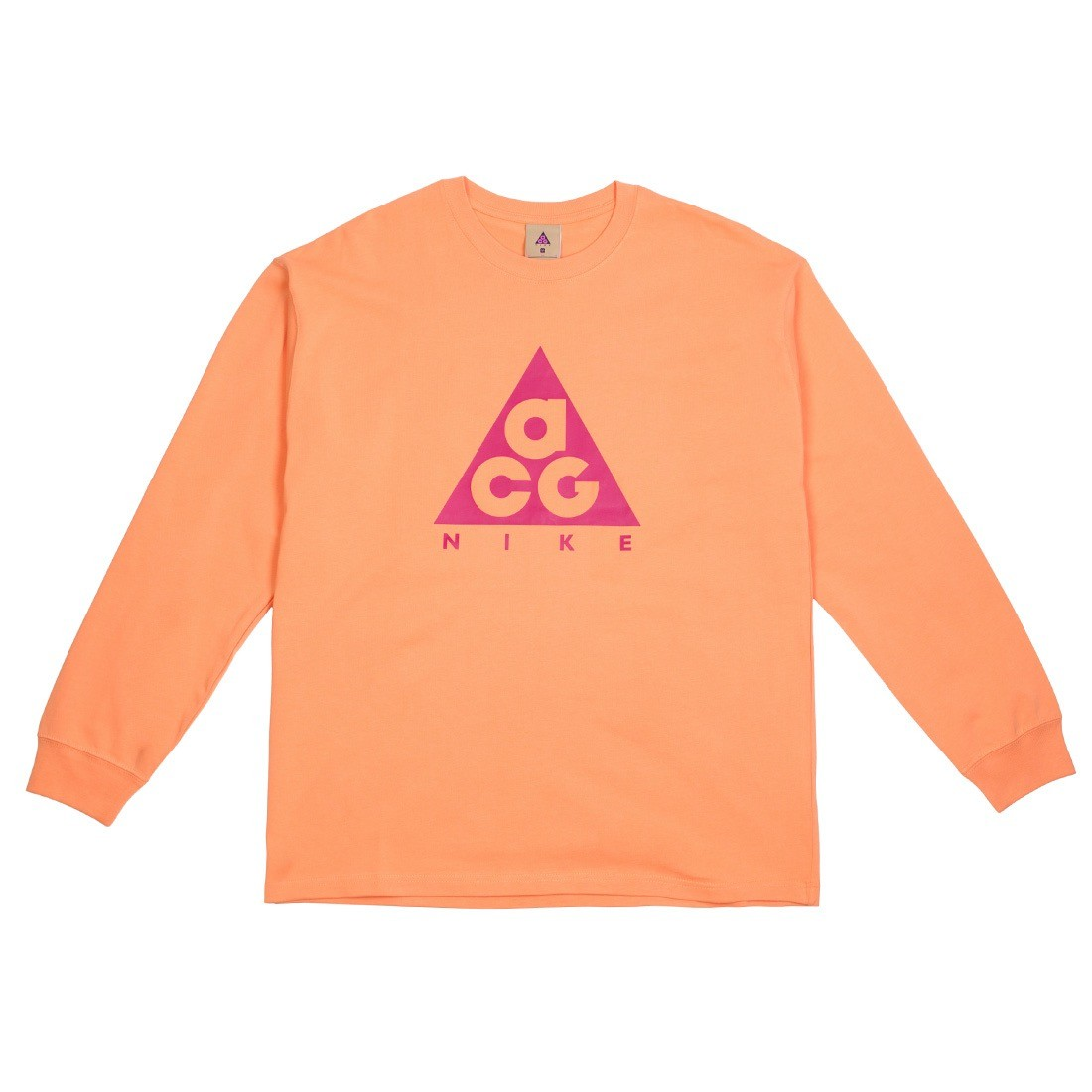 Nike Men Nrg Acg Logo Long Sleeves Tee (orange trance / sport fuchsia)
