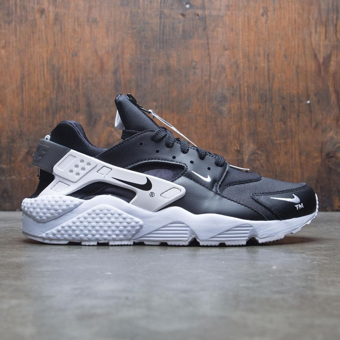 sports shoes 719e1 c2430 nike men air huarache run premium zip black black white