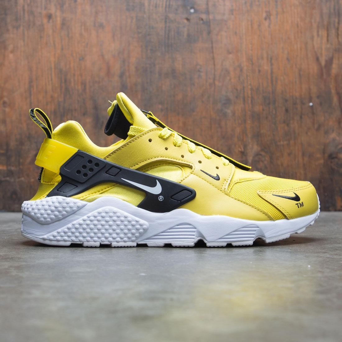 bdc2d434cafc nike men air huarache run premium zip bright citron white black