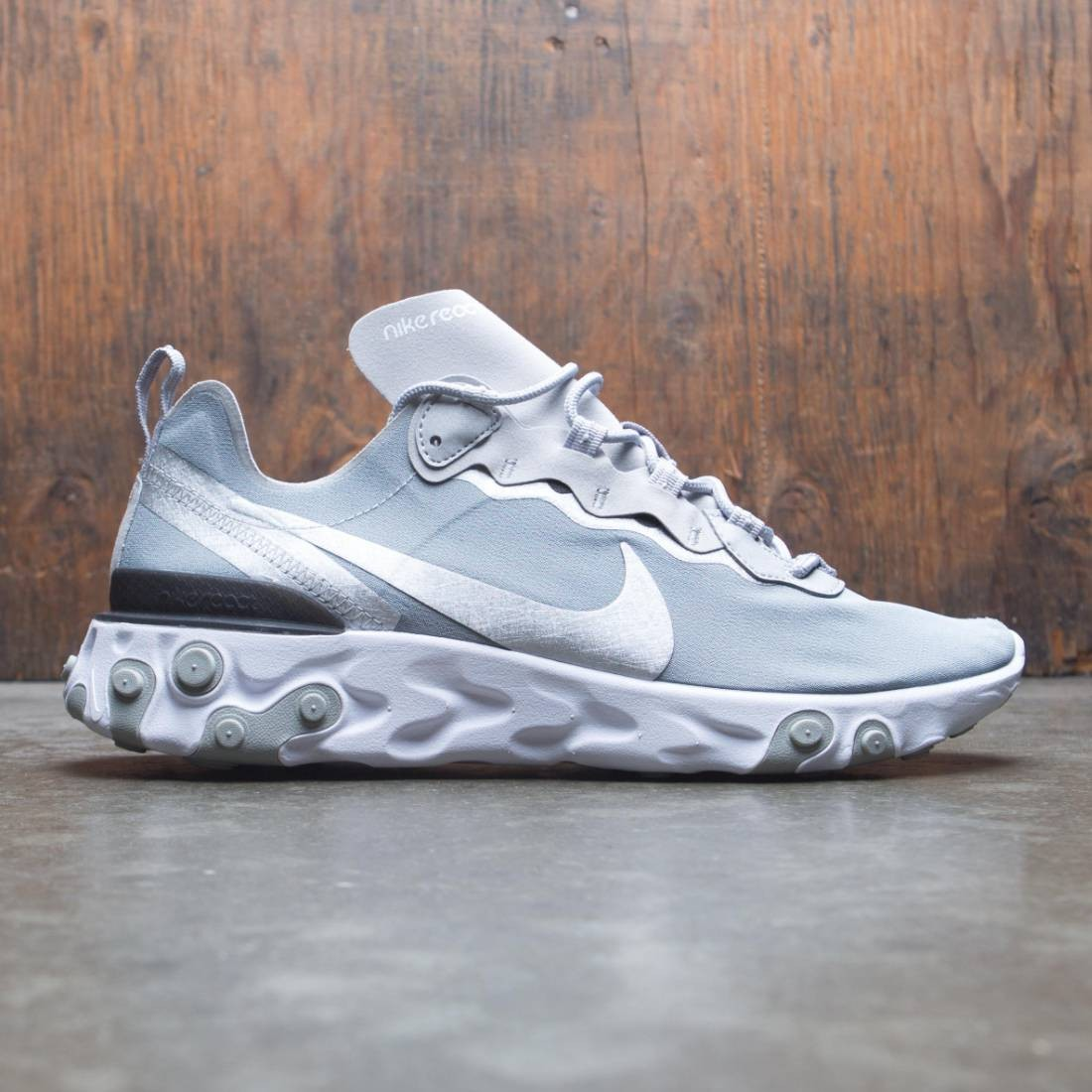 Nike Men React Element 55 (metallic silver / metallic silver-black)