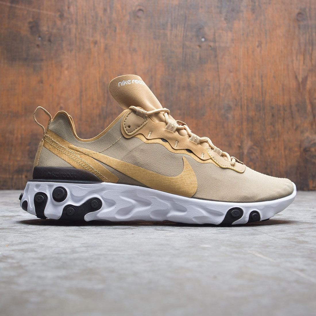 70252ee83e234 nike men react element 55 metallic gold metallic gold black white
